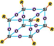 3次元ガラス骨格分子構造シリコーンレジン